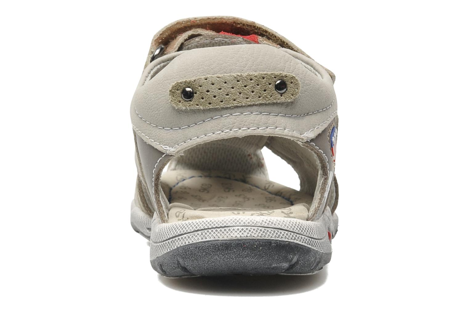 Sandals Bopy CLEDER Grey view from the right