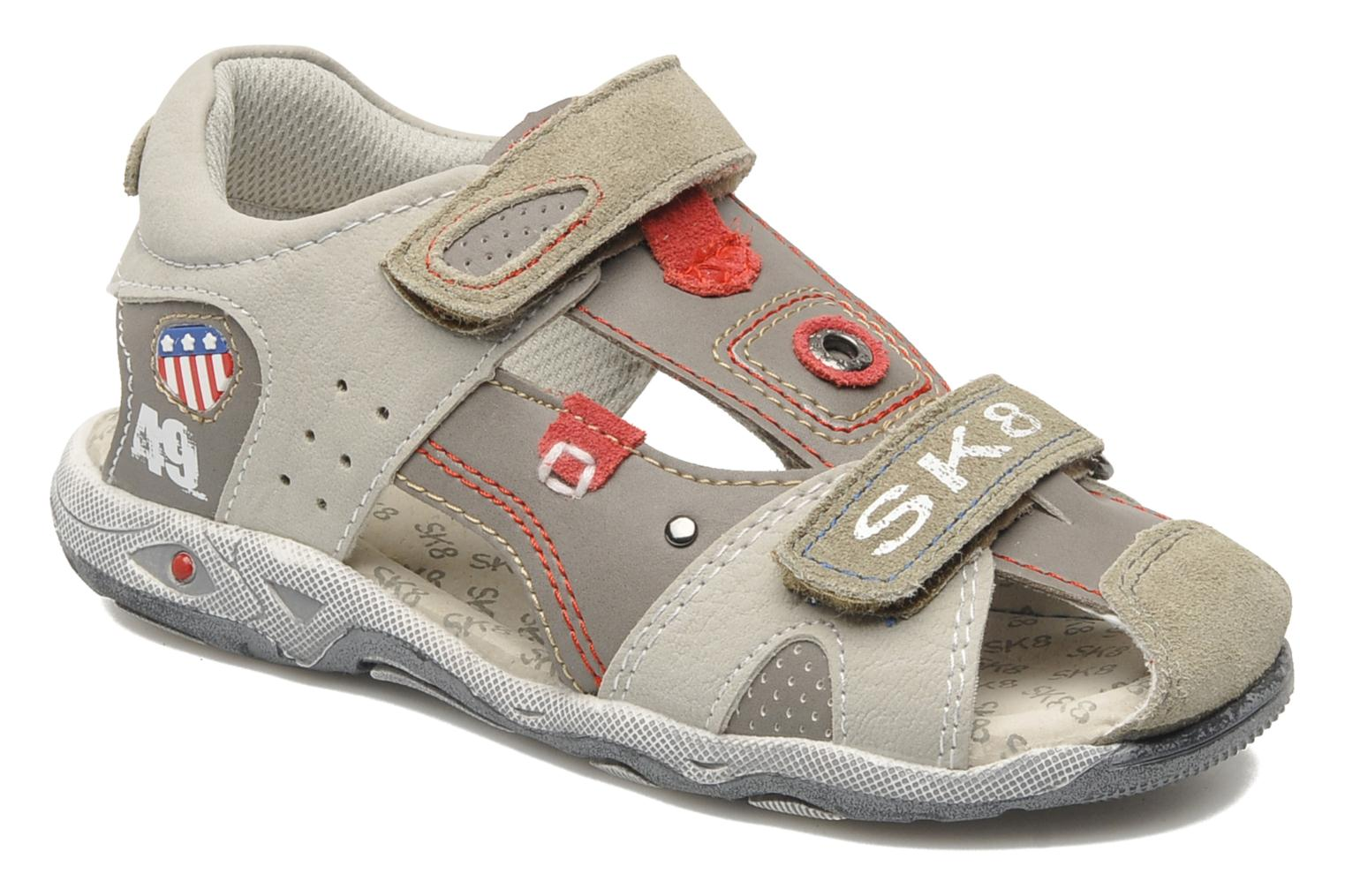 Sandals Bopy CLEDER Grey detailed view/ Pair view