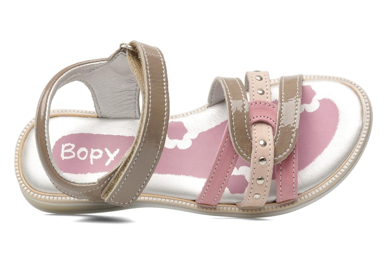 Sandalen Bopy ETOI braun ansicht von links