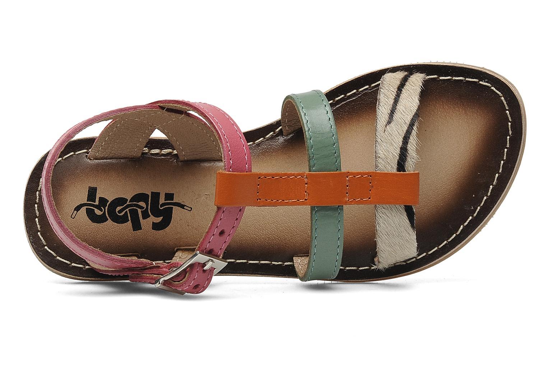 Sandales et nu-pieds Bopy FABIOLA Multicolore vue gauche