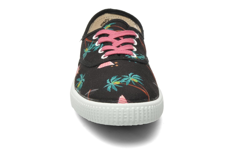Baskets Victoria Victoria Palmeras Noir vue portées chaussures