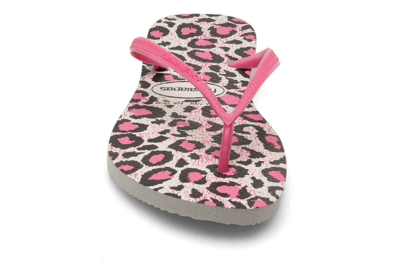 Flip flops & klipklapper Havaianas Slim Animals Pink se skoene på