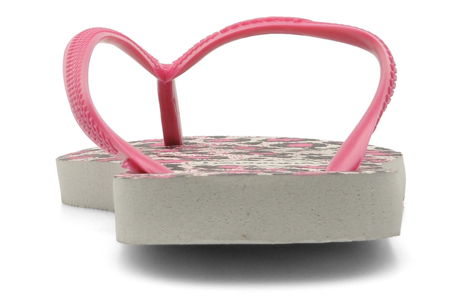 Tongs Havaianas Slim Animals Rose vue droite