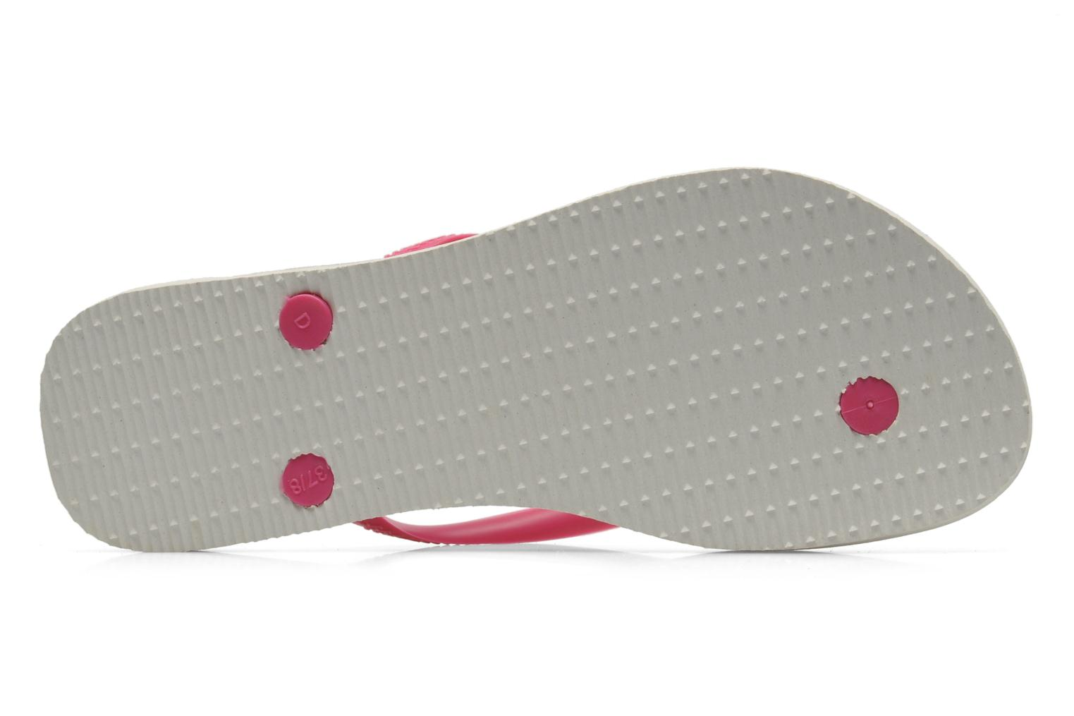 Tongs Havaianas Slim Animals Rose vue haut