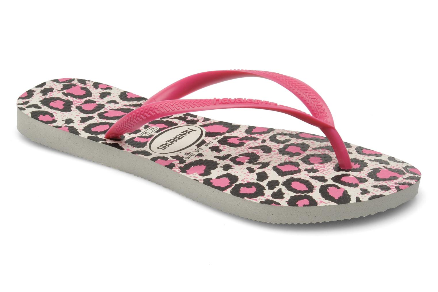 Tongs Havaianas Slim Animals Rose vue détail/paire