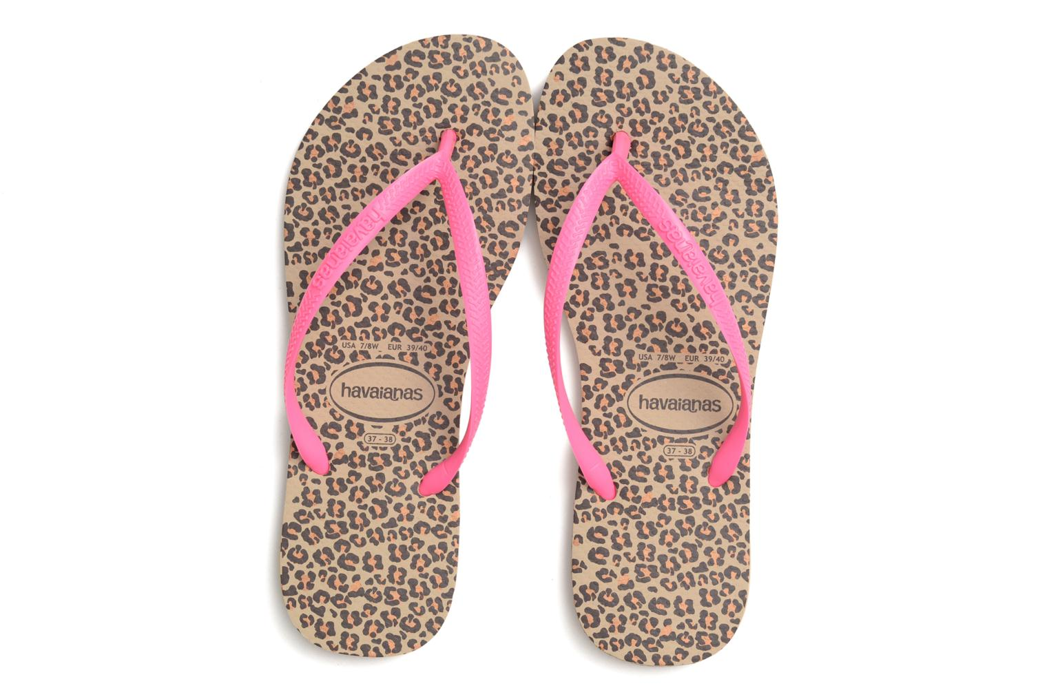 Flip flops Havaianas Slim Animals Multicolor 3/4 view