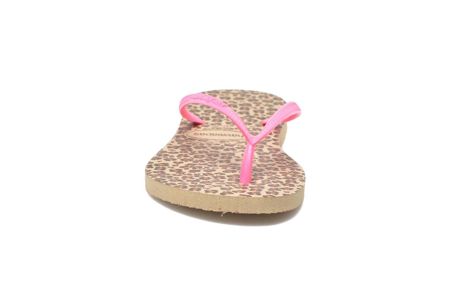 Flip flops Havaianas Slim Animals Multicolor model view