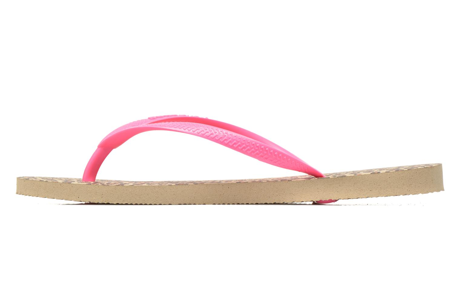 Flip flops Havaianas Slim Animals Multicolor front view