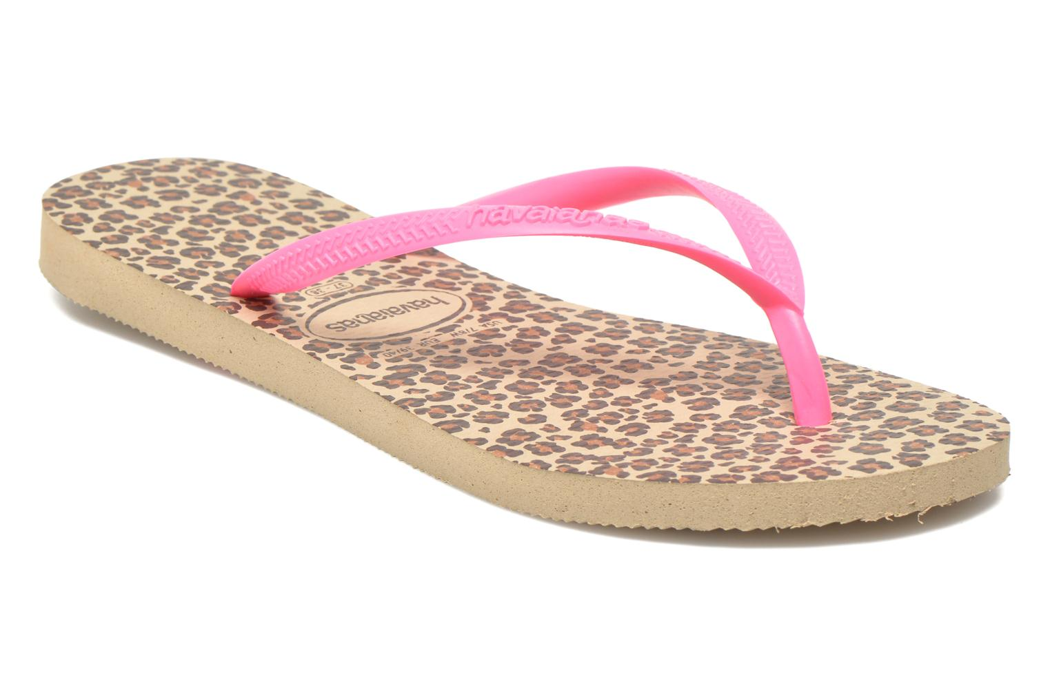 Chanclas Havaianas Slim Animals Multicolor vista de detalle / par