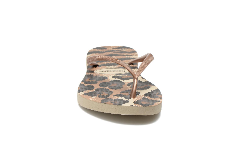 Tongs Havaianas Slim Animals Multicolore vue portées chaussures