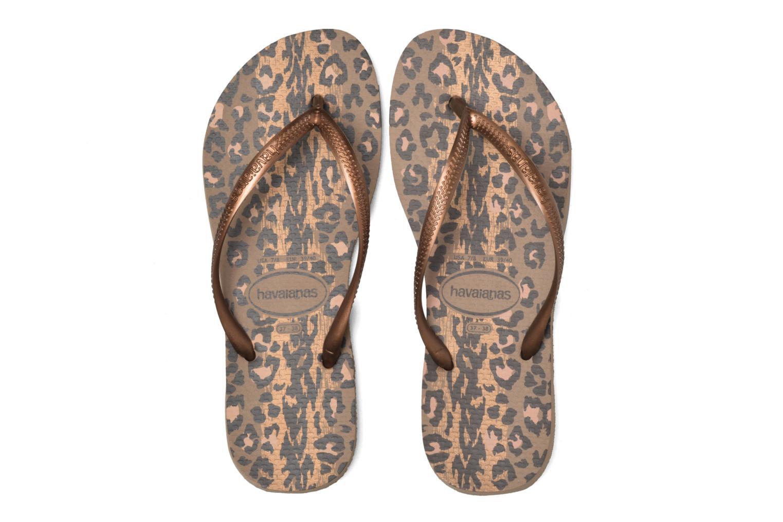 Flip flops & klipklapper Havaianas Slim Animals Guld og bronze 3/4 billede
