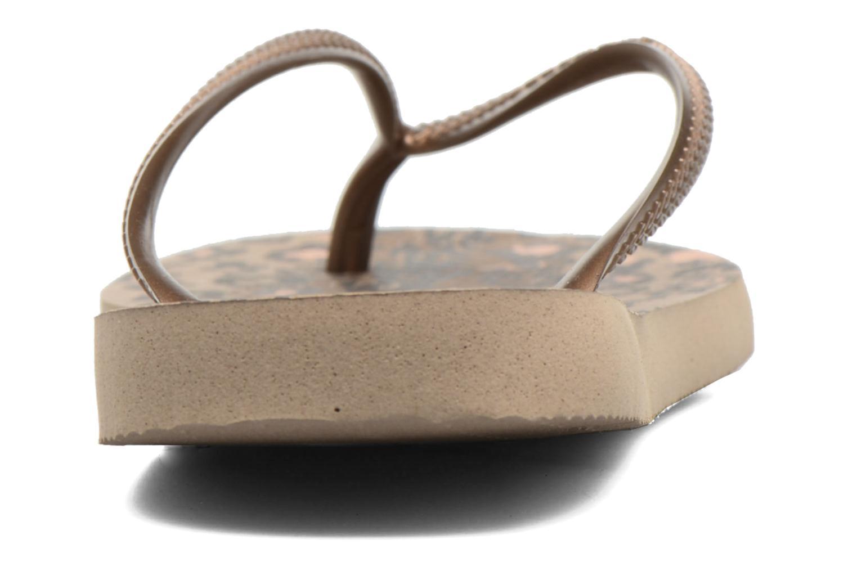 Flip flops & klipklapper Havaianas Slim Animals Guld og bronze Se fra højre