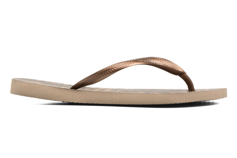 Flip flops & klipklapper Havaianas Slim Animals Guld og bronze se bagfra