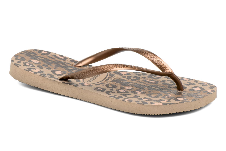Flip flops & klipklapper Havaianas Slim Animals Guld og bronze detaljeret billede af skoene