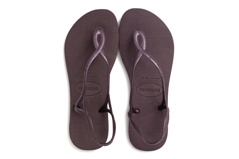 Sandales et nu-pieds Havaianas Luna Violet vue 3/4