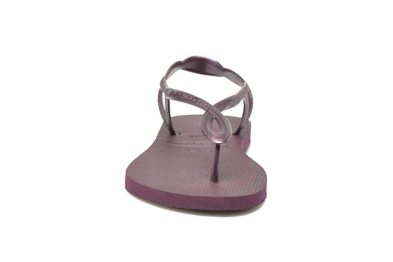 Sandales et nu-pieds Havaianas Luna Violet vue portées chaussures