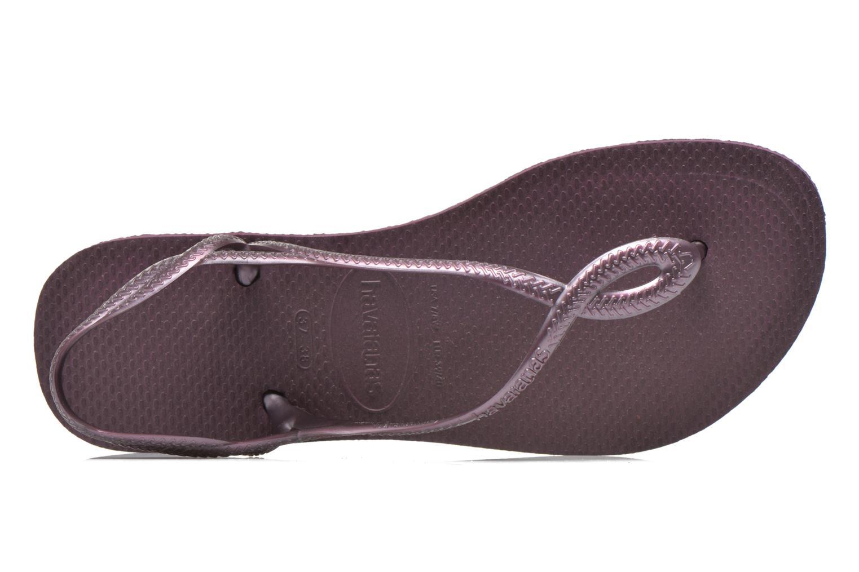 Sandales et nu-pieds Havaianas Luna Violet vue gauche