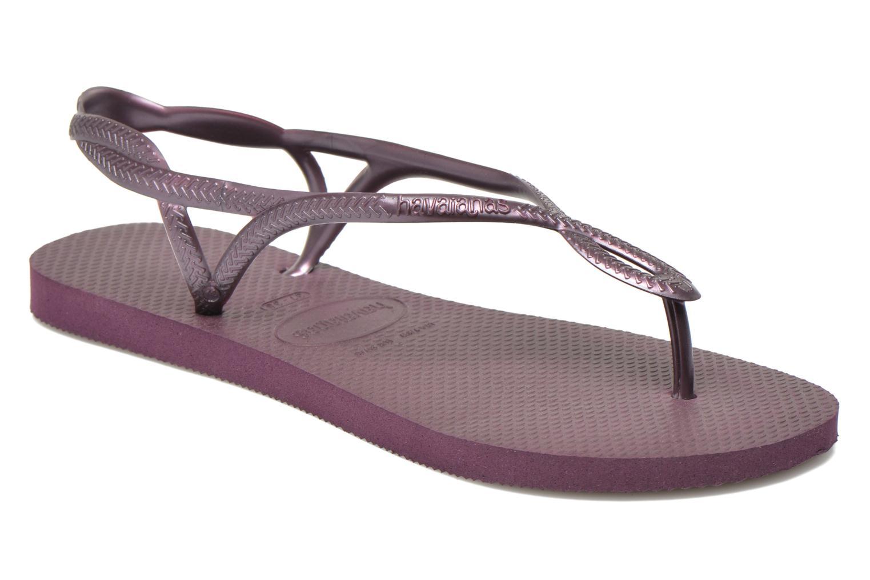 Sandales et nu-pieds Havaianas Luna Violet vue détail/paire