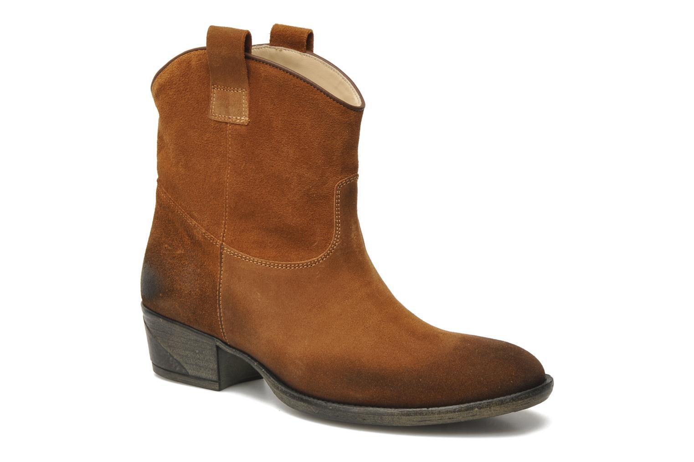Bottines et boots Liu Jo Texano Basso Antigone Marron vue 3/4
