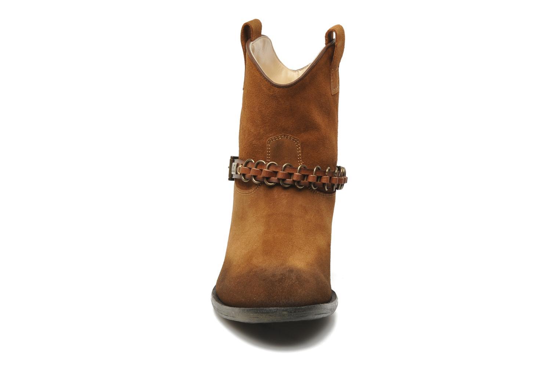 Bottines et boots Liu Jo Texano Basso Antigone Marron vue portées chaussures