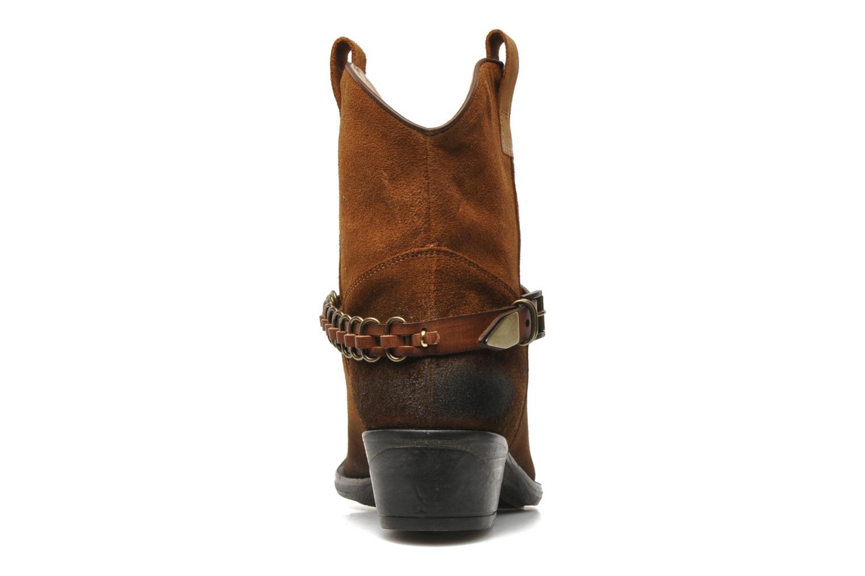 Bottines et boots Liu Jo Texano Basso Antigone Marron vue droite