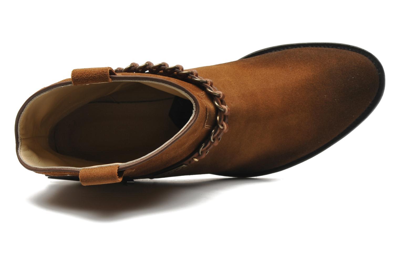 Bottines et boots Liu Jo Texano Basso Antigone Marron vue gauche