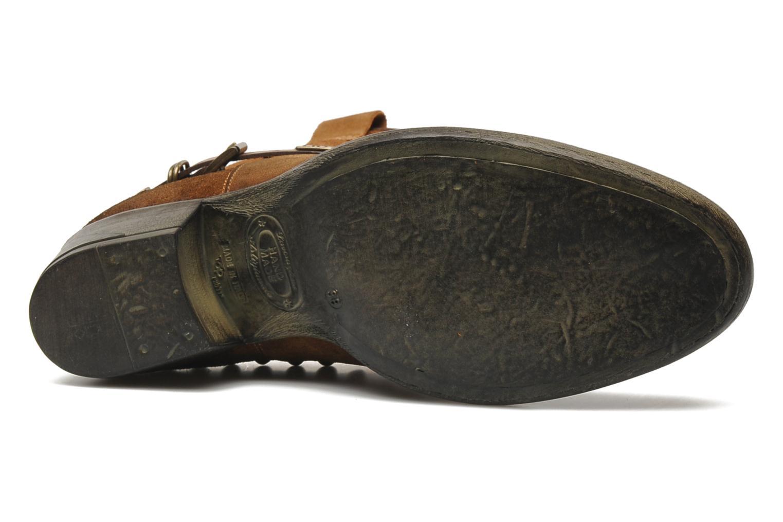 Bottines et boots Liu Jo Texano Basso Antigone Marron vue haut