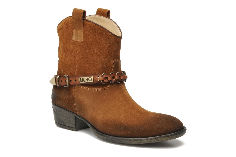 Bottines et boots Liu Jo Texano Basso Antigone Marron vue détail/paire