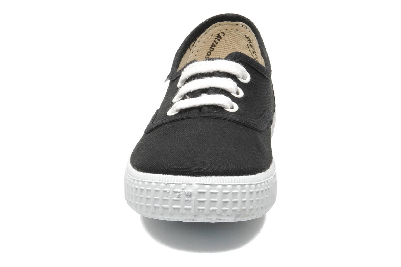 Sneaker Victoria Inglesa Lona schwarz schuhe getragen