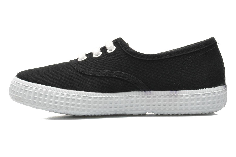 Sneaker Victoria Inglesa Lona schwarz ansicht von vorne
