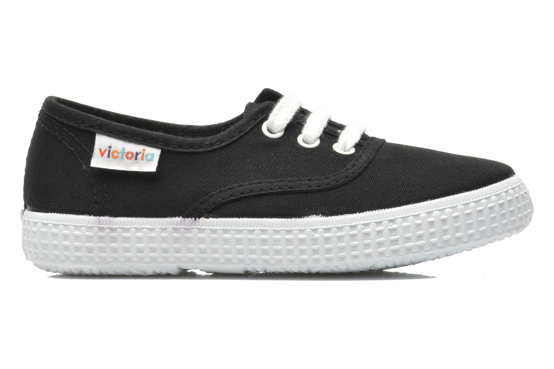 Sneakers Victoria Inglesa Lona Zwart achterkant