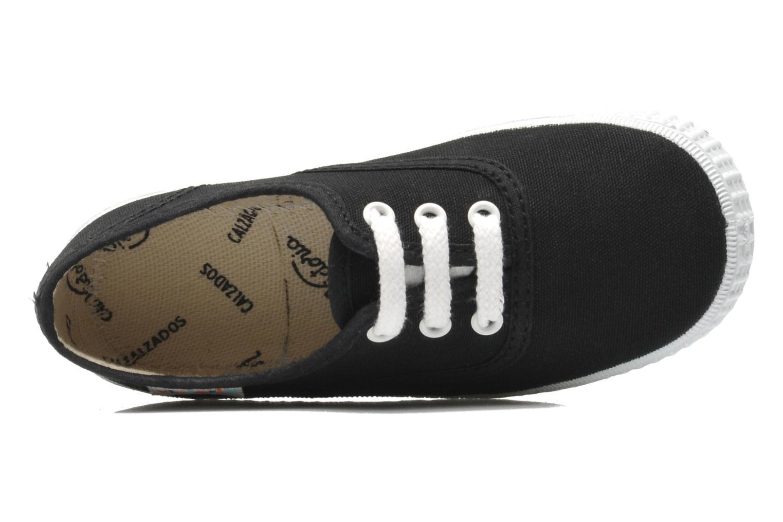 Sneaker Victoria Inglesa Lona schwarz ansicht von links