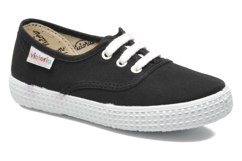 Sneakers Victoria Inglesa Lona Zwart detail