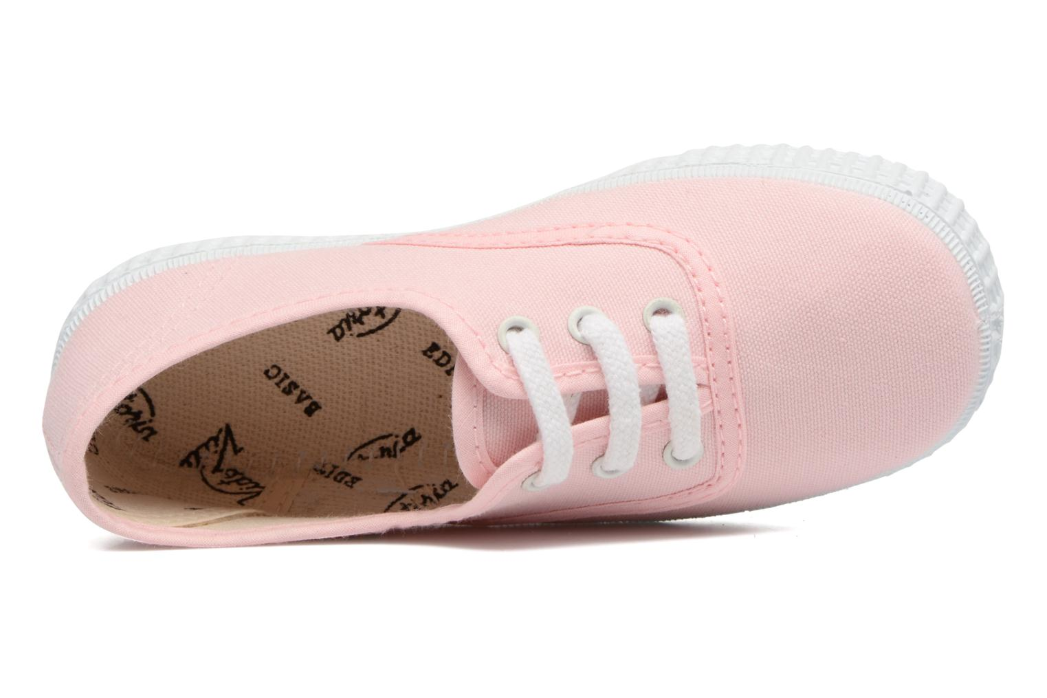 Trainers Victoria Inglesa Lona Pink view from the left
