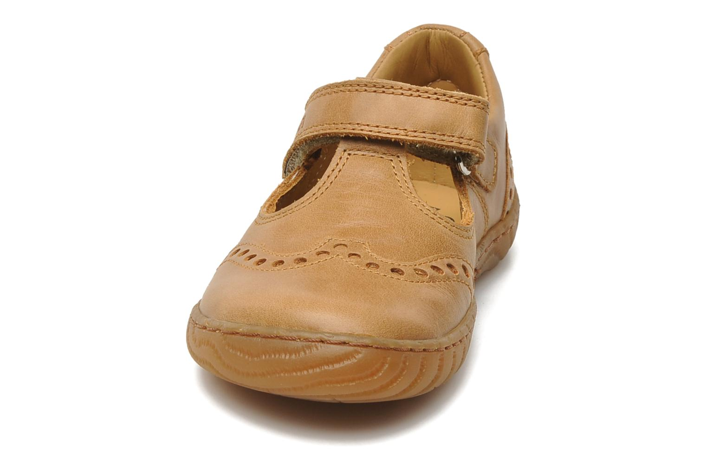 Velcro shoes Pom d Api WOODY SANDAL PERFO Brown model view