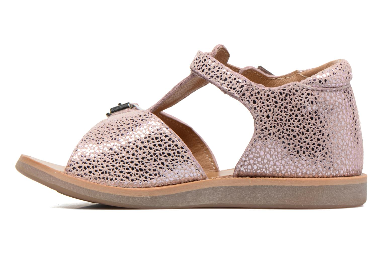 Sandali e scarpe aperte Pom d Api POPPY BUCKLE Rosa immagine frontale