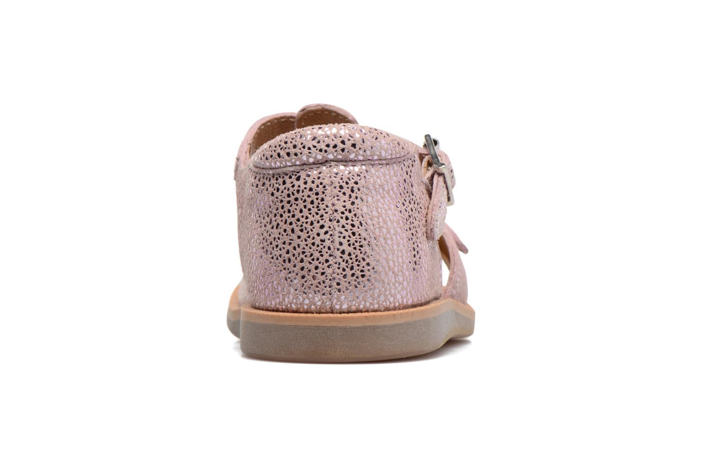 Sandales et nu-pieds Pom d Api POPPY BUCKLE Rose vue droite