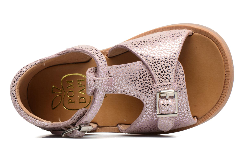 Sandali e scarpe aperte Pom d Api POPPY BUCKLE Rosa immagine sinistra