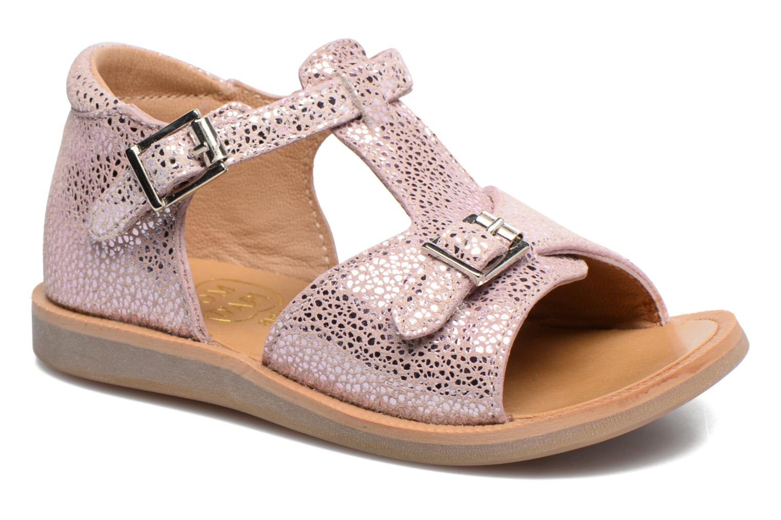 Sandals Pom d Api POPPY BUCKLE Pink detailed view/ Pair view