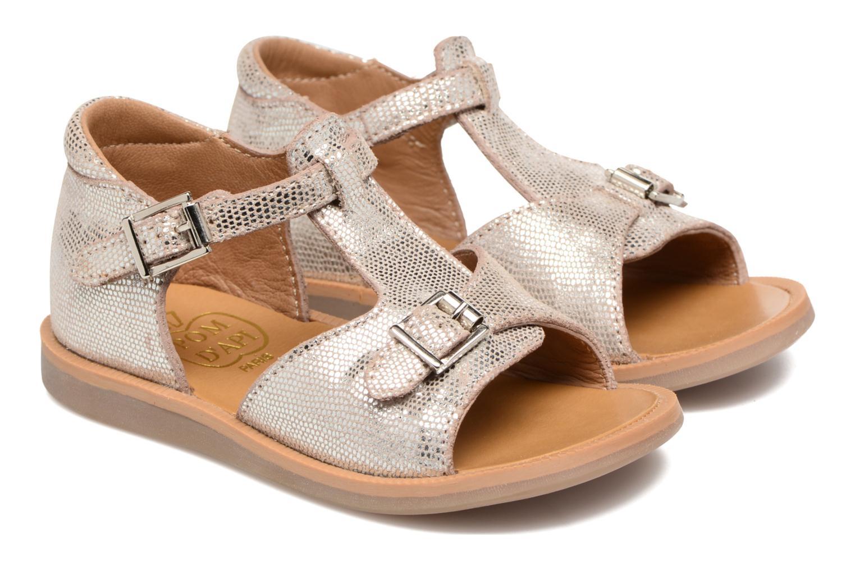Sandales et nu-pieds Pom d Api POPPY BUCKLE Argent vue 3/4