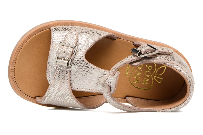 Sandales et nu-pieds Pom d Api POPPY BUCKLE Argent vue gauche
