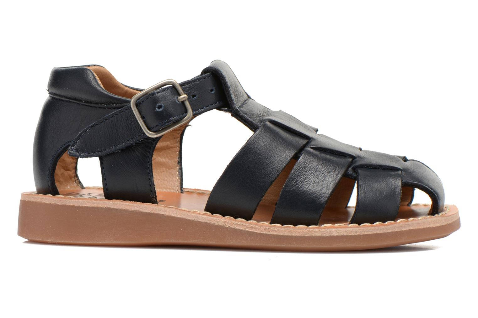 Sandals Pom d Api Yapo Papy Buckle Blue back view
