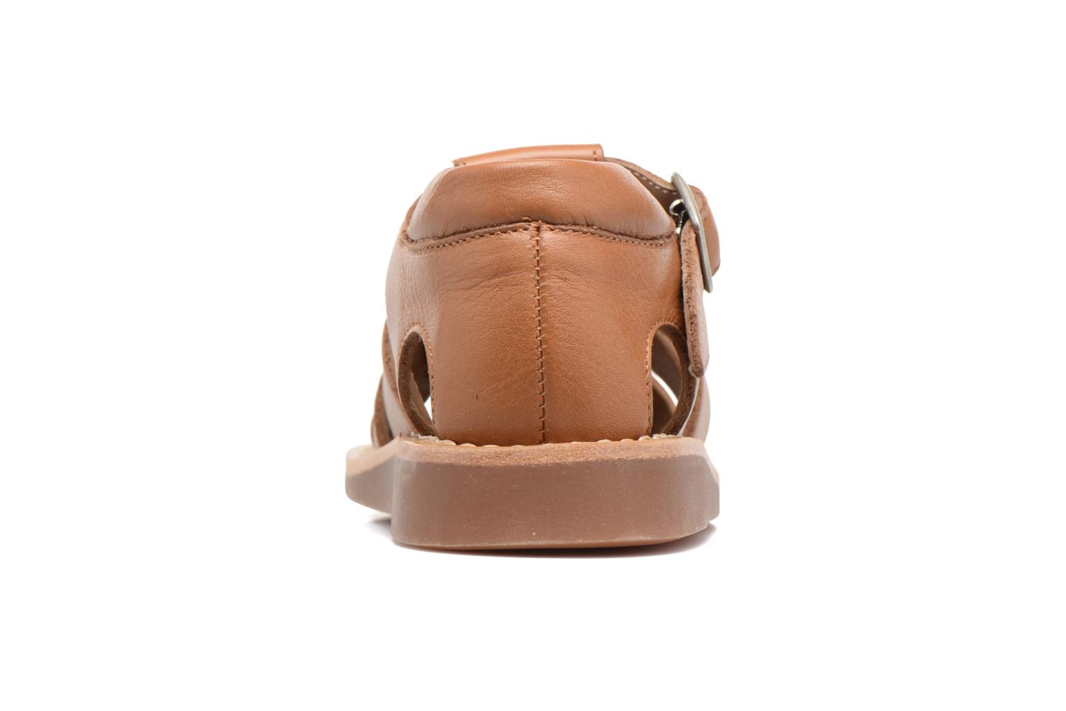 Sandals Pom d Api Yapo Papy Buckle Brown view from the right