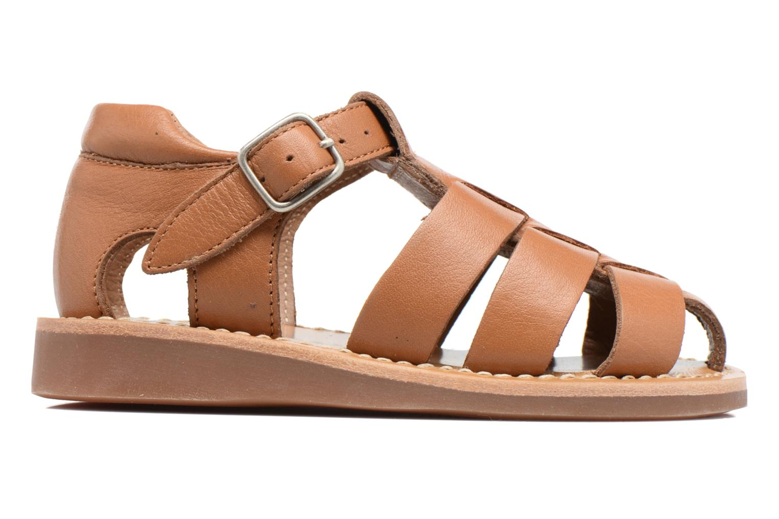Sandals Pom d Api Yapo Papy Buckle Brown back view