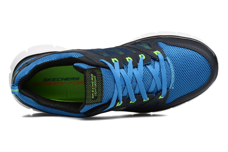Chaussures de sport Skechers Flex Advantage 51251 Bleu vue gauche