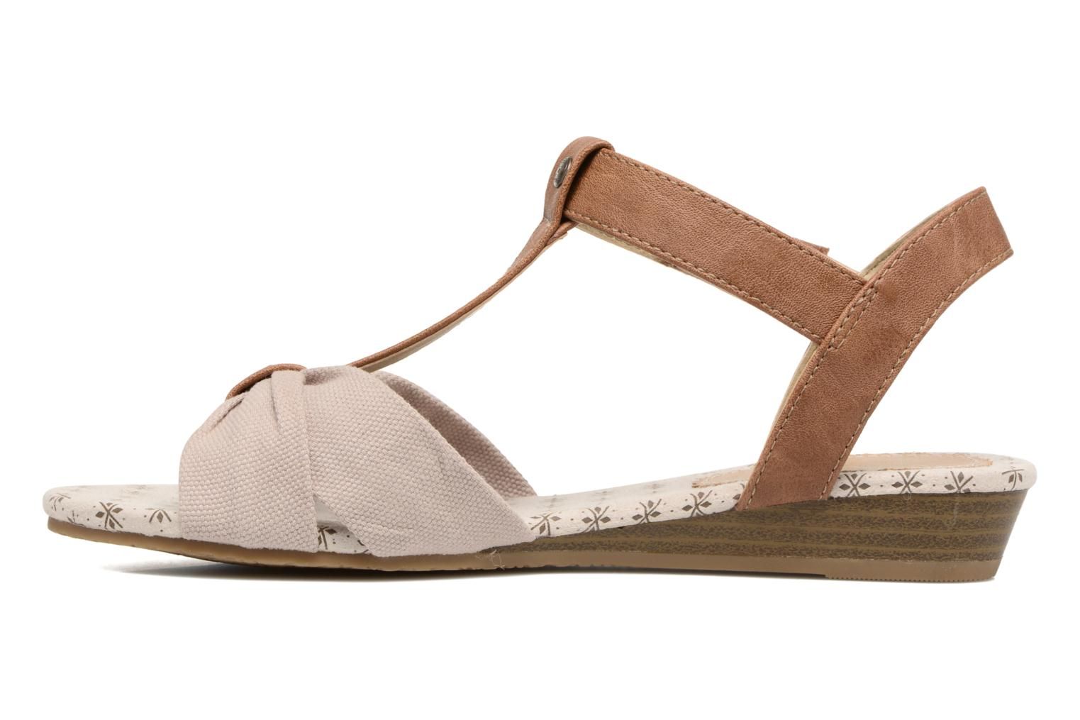 Sandals Mustang shoes Beibei Beige front view