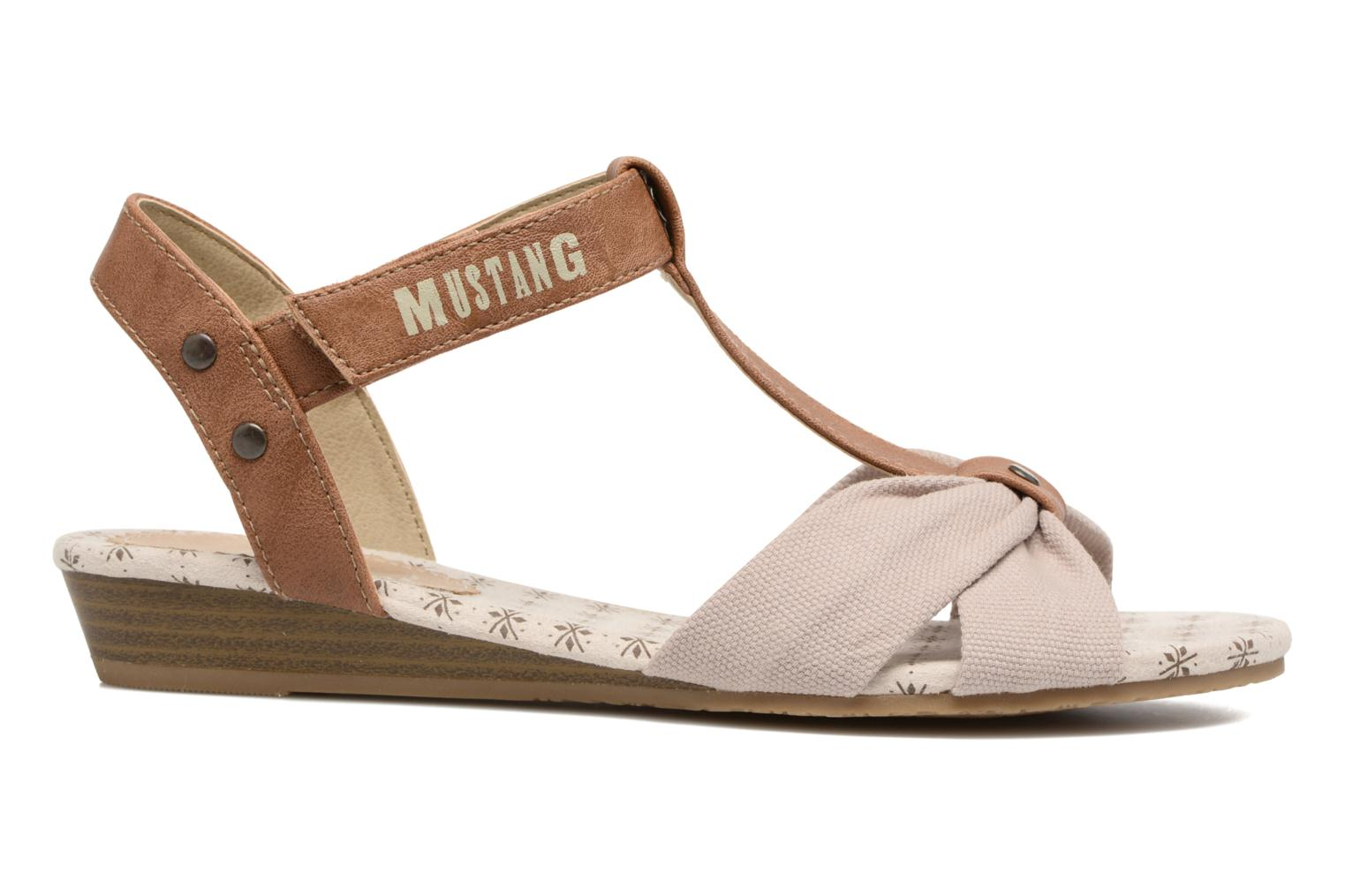Sandals Mustang shoes Beibei Beige back view