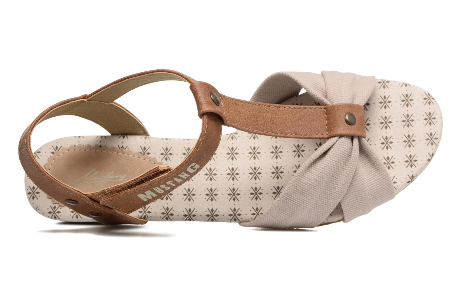Sandals Mustang shoes Beibei Beige view from the left
