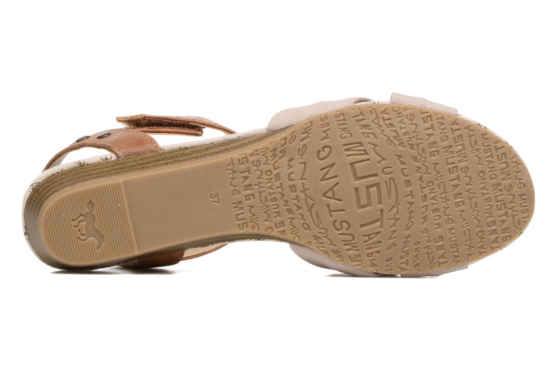 Sandalen Mustang shoes Beibei beige ansicht von oben