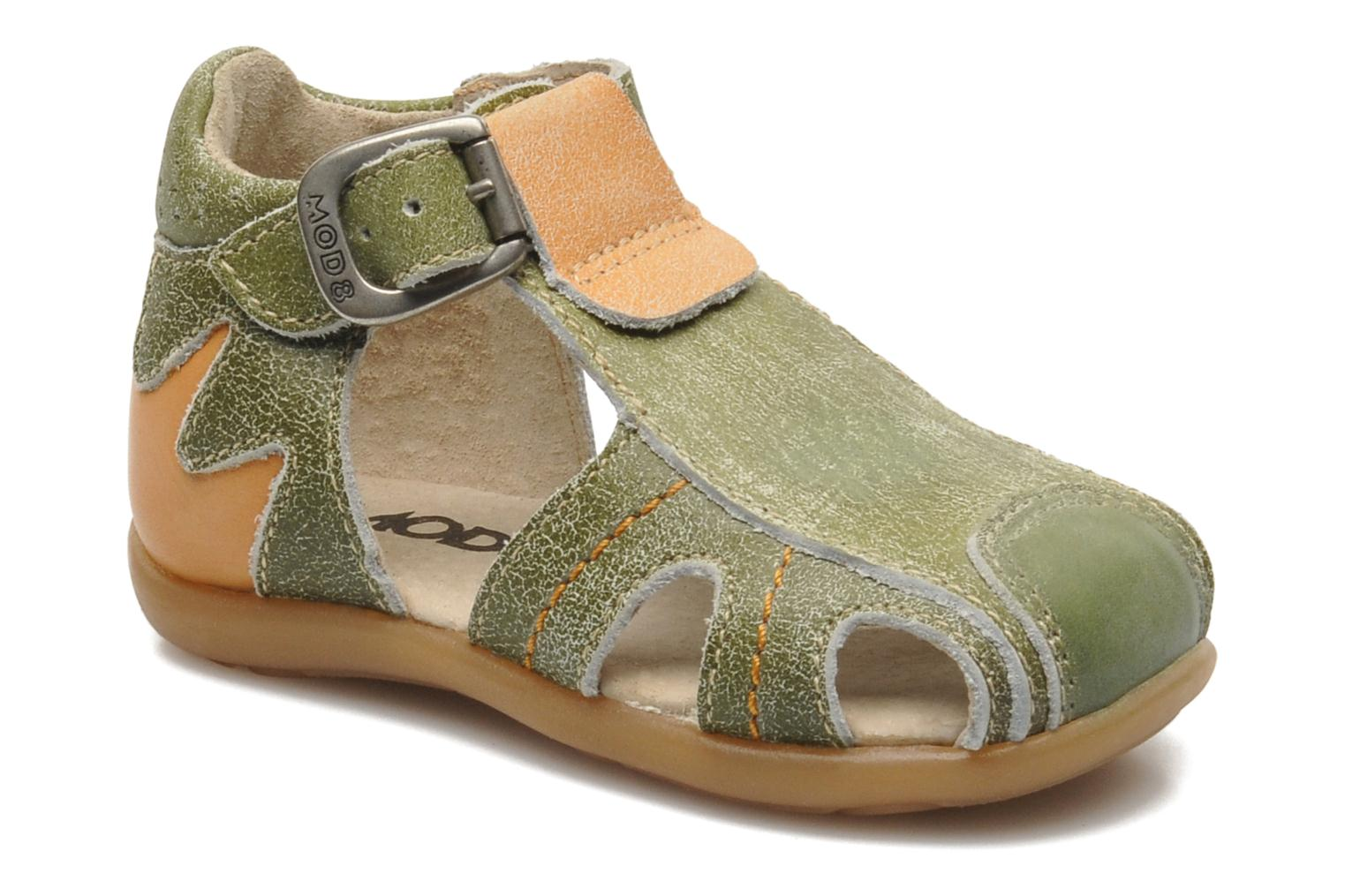 Sandals Mod8 ALUCINE Green detailed view/ Pair view